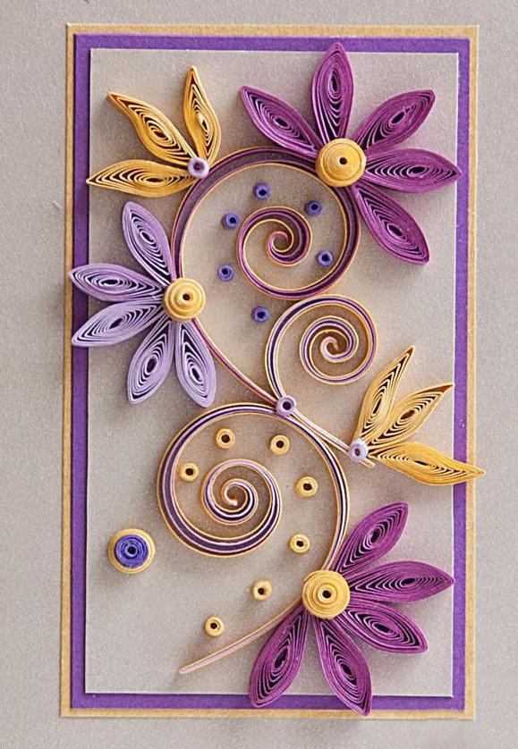 Другу, открытки с цветами в технике квиллинг своими руками