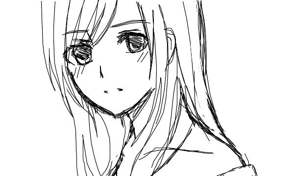 anime girl outline drawing www imgarcade com online image card
