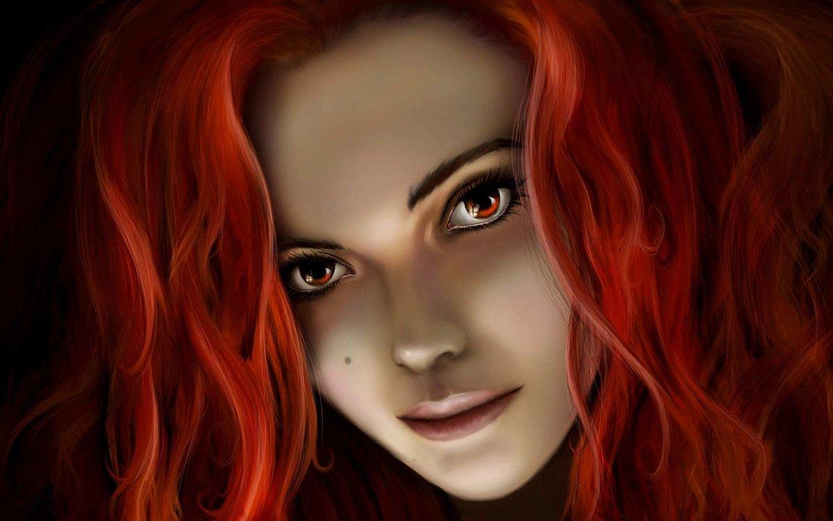 Картинки рыжих девушек нарисованных на аву