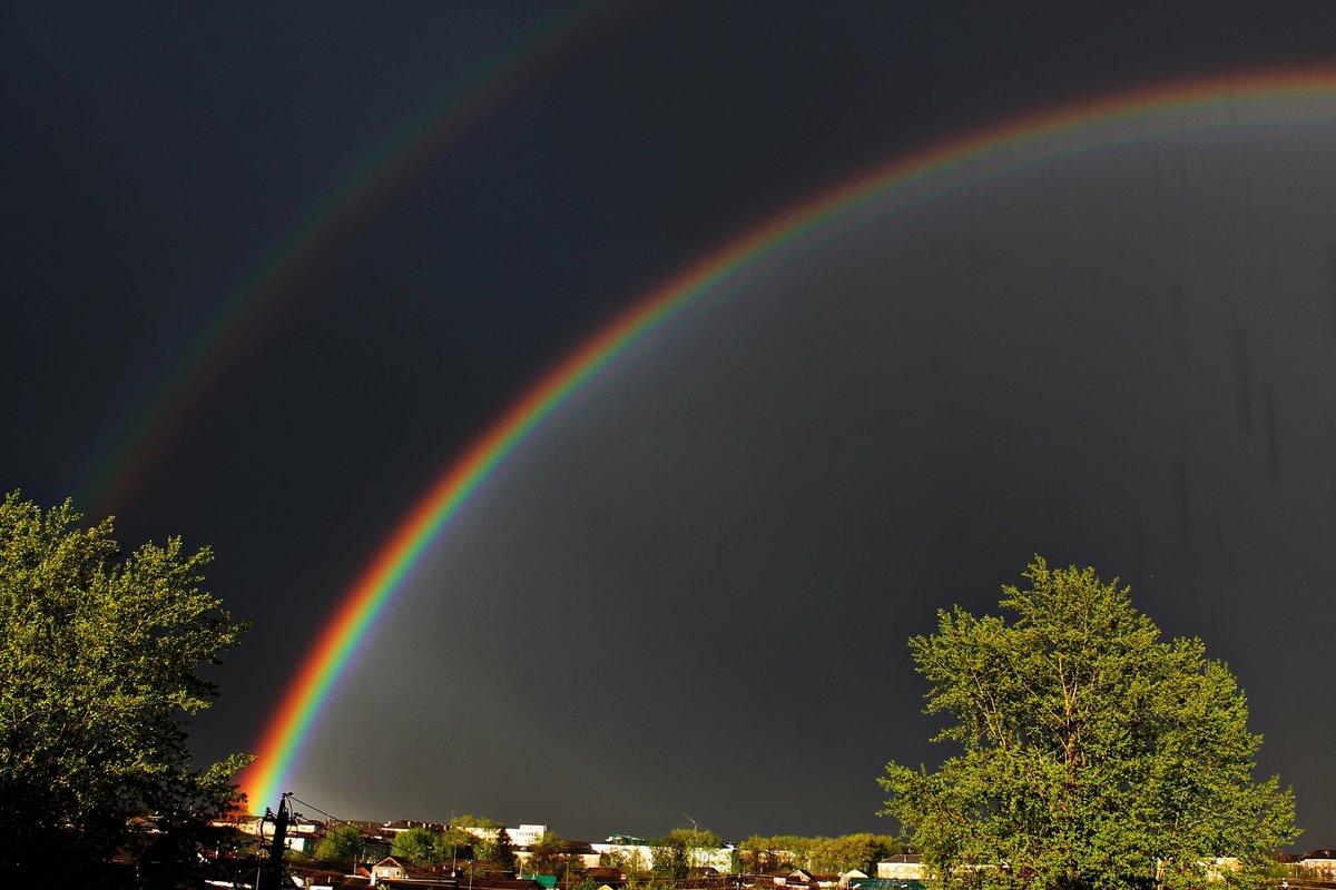 Молния и солнце и радуга картинки