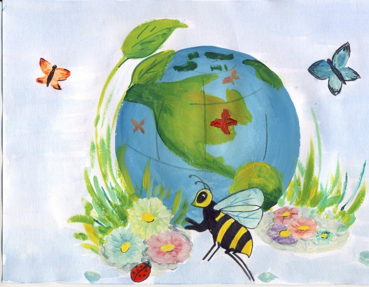 Детские рисунки окружающий мир