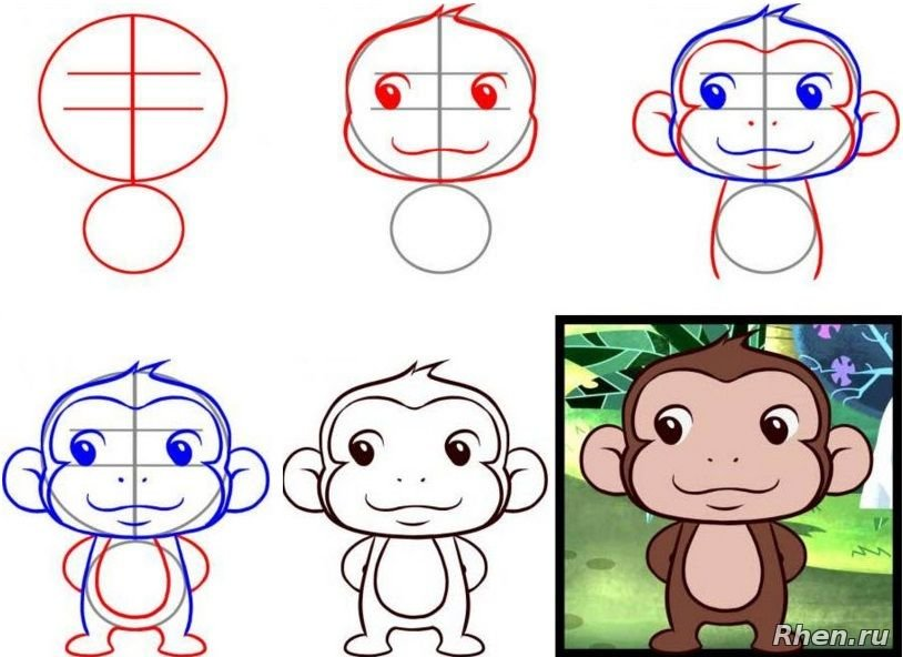 легкая картинка обезьянки организациях