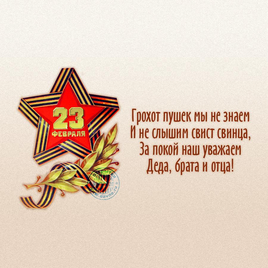 Поздравления с днем 23 февраля открытки со стихами, ночи ромашками