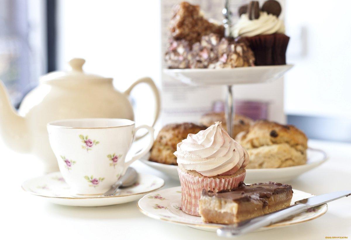 Картинки с пироженками и чаем