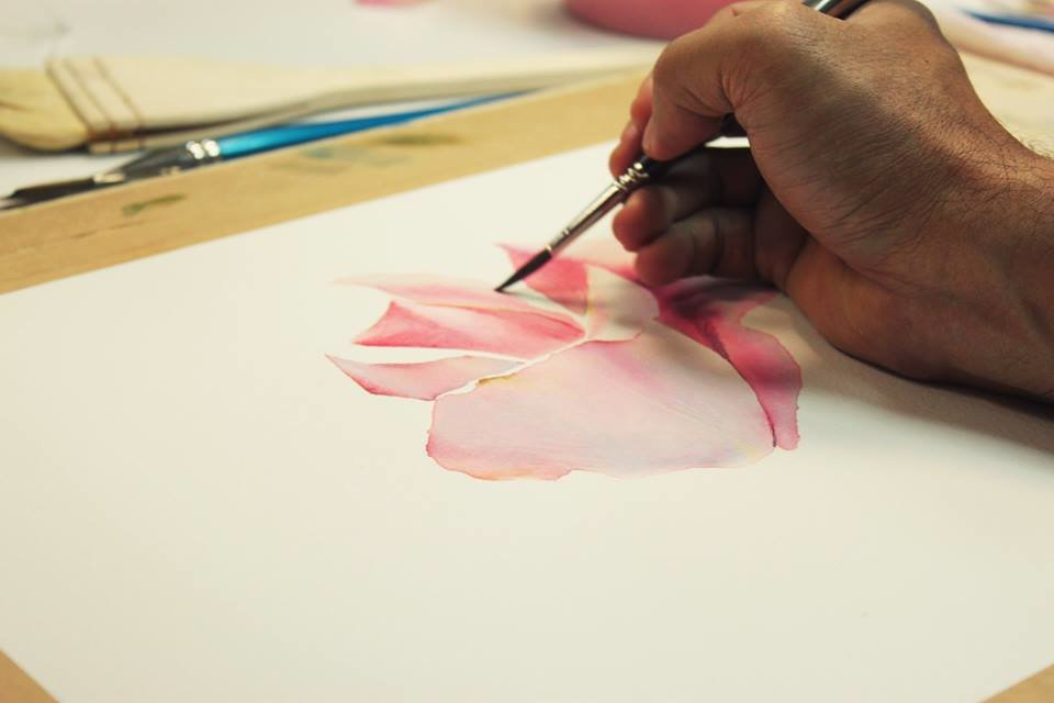 тайские видео как художник рисует розу на русском время коктейлей посмотрите