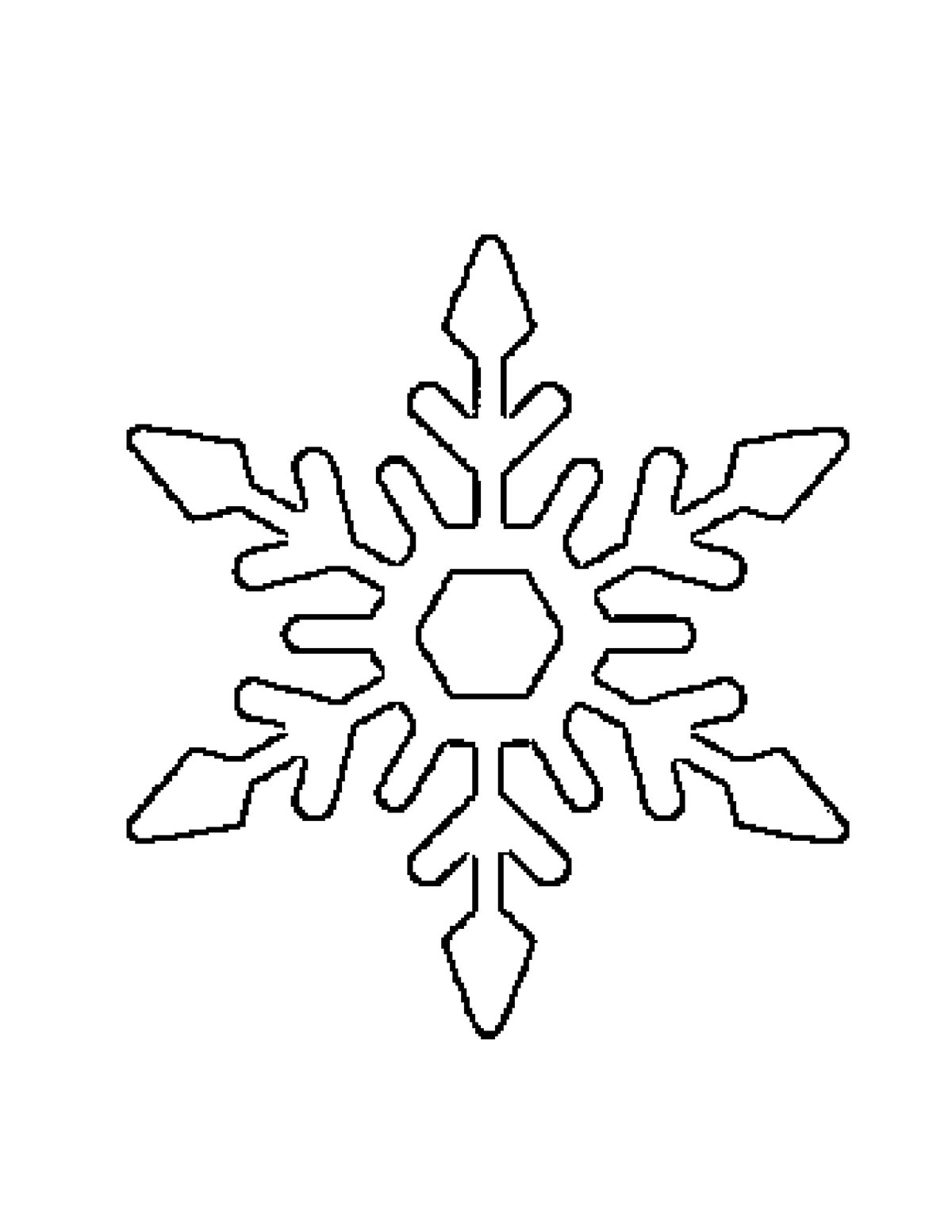 Картинки со снежинками для вырезания