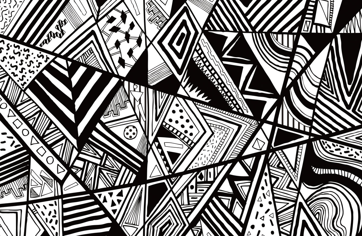Картинки чб абстракции