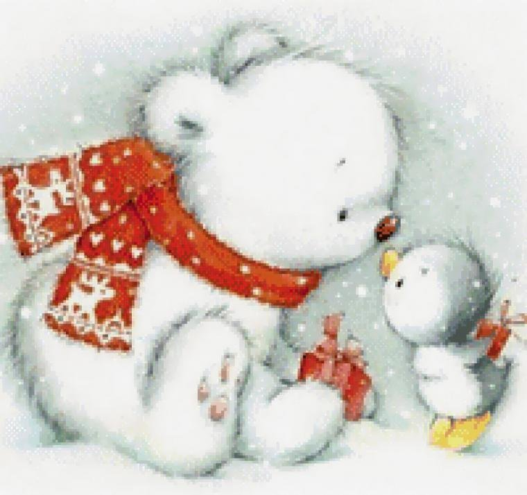 Картинка про, открытка с новым годом с мишками