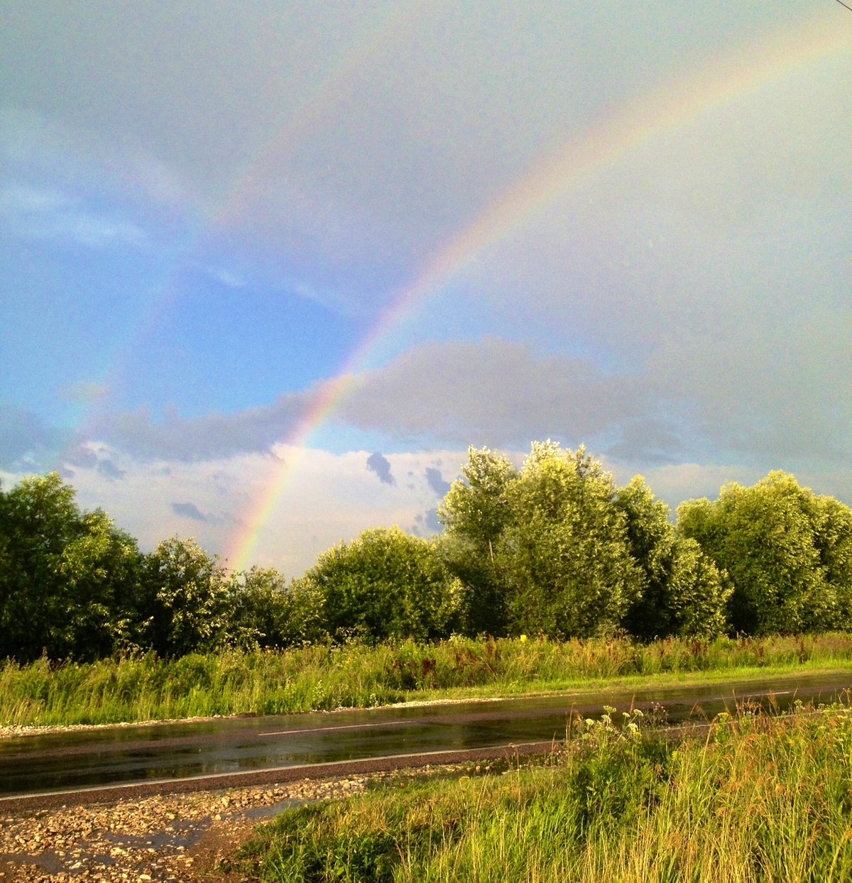 этом фото радуги после дождя она