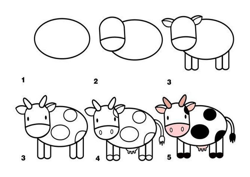 Домашние животные рисунки карандашом легкие
