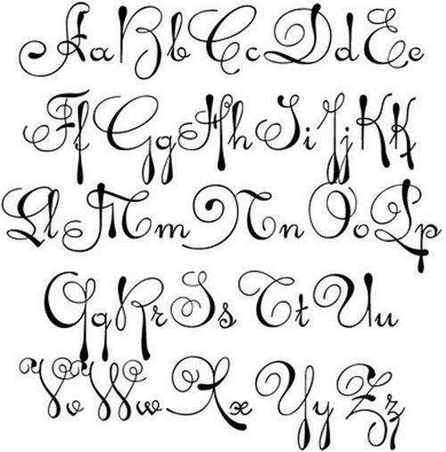 13 Cursive Font Alphabet Letters Images