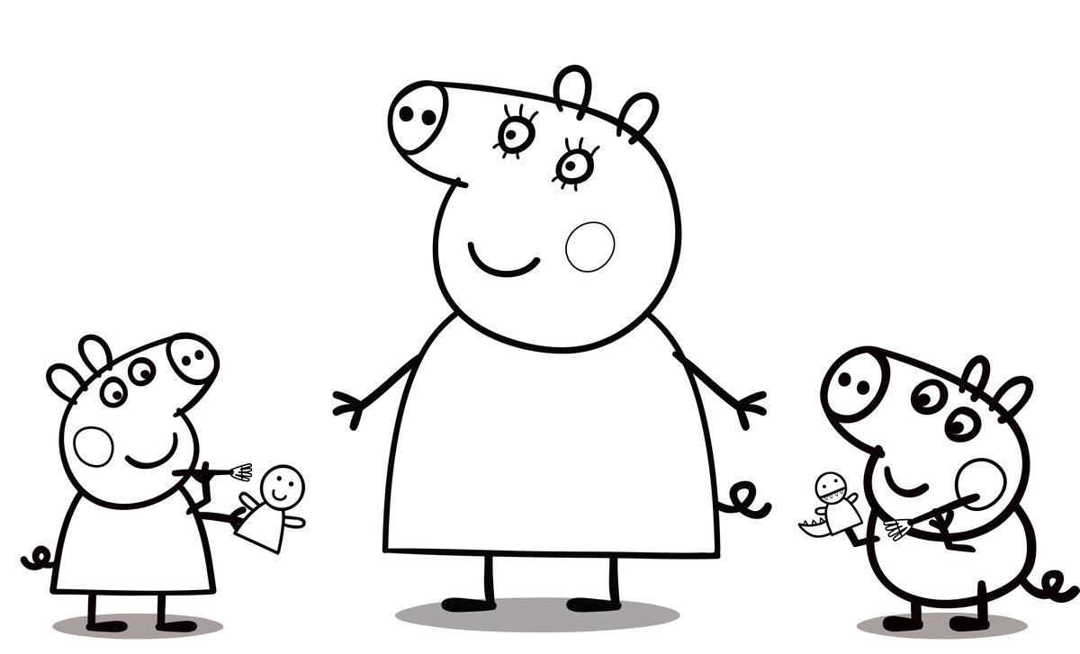 «Раскраска Свинка Пеппа - детские раскраски распечатать ...