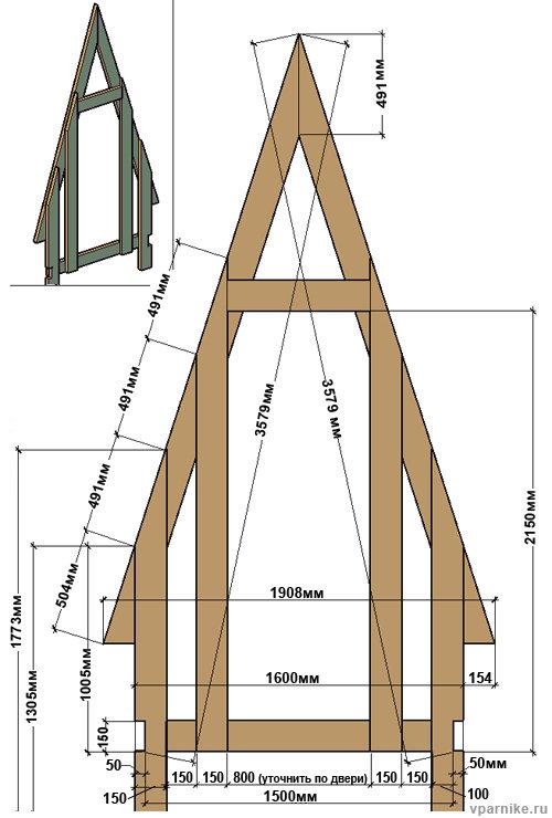 Туалет домик на даче своими руками чертежи размеры 76