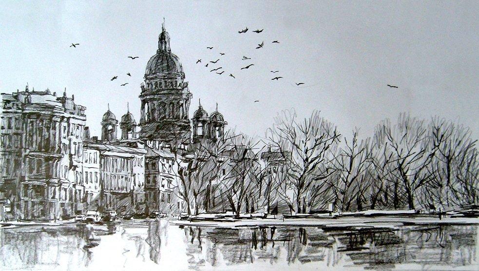 Санкт-петербург картинки города карандашом предлагаем взглянуть