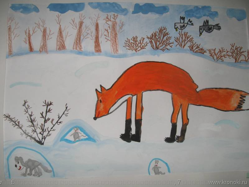 звери в зимнем лесу картинки в старшей группе