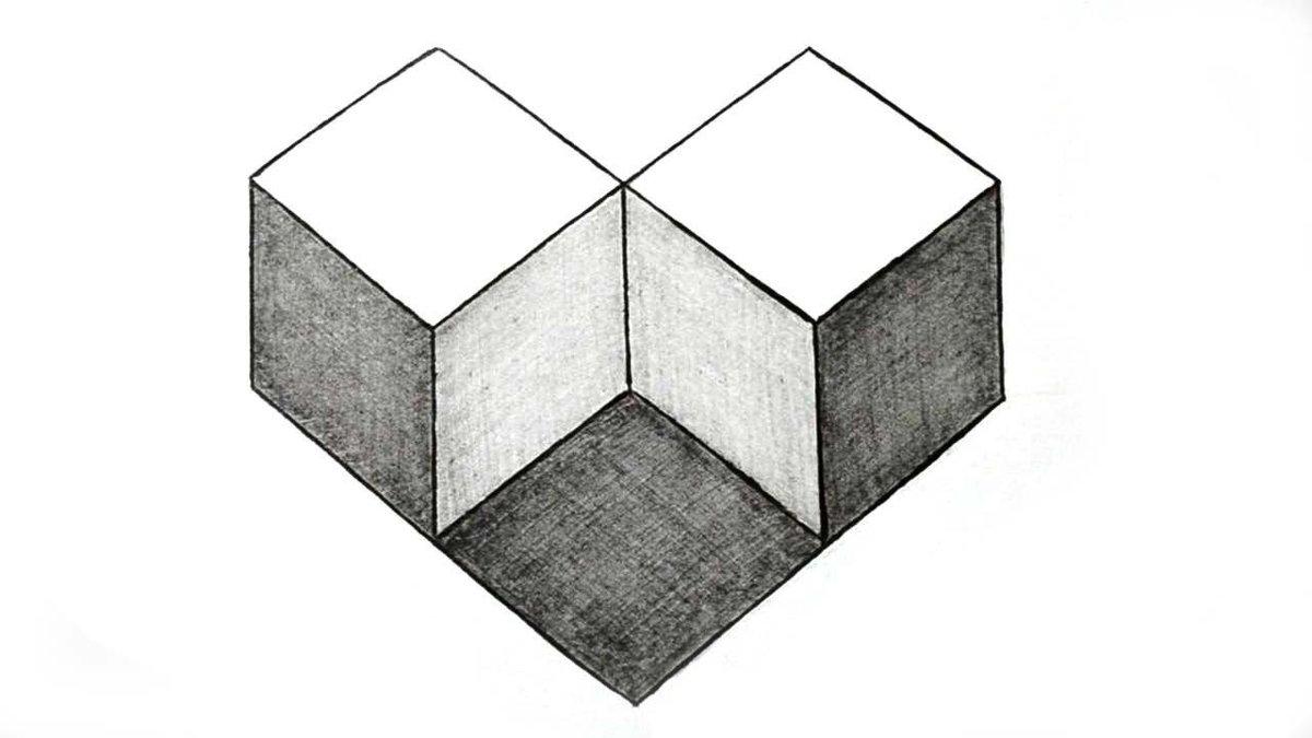 квадрат рисунки карандашом