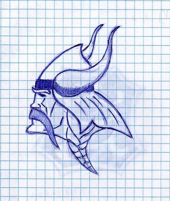 Днем, картинки рисуем ручкой