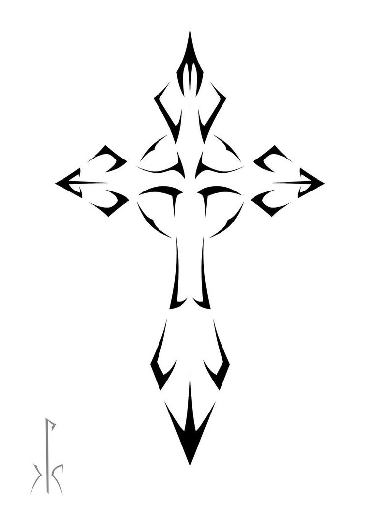 picture-of-a-black-tribal-cross