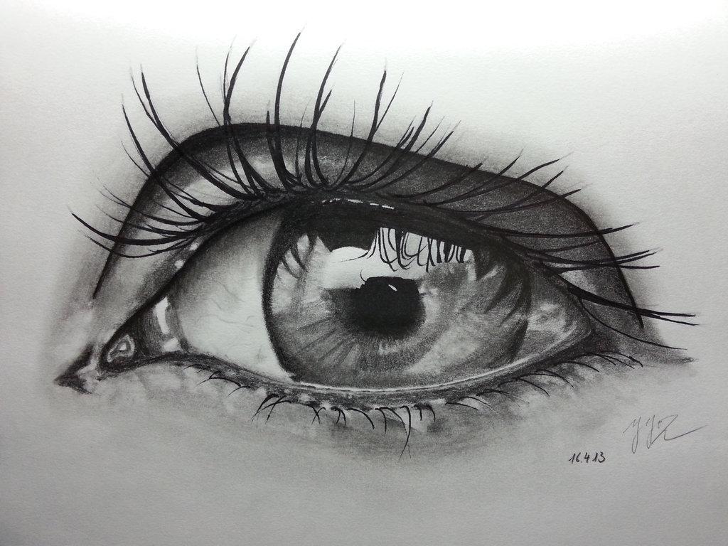 Картинки карандашом прикольно глаза