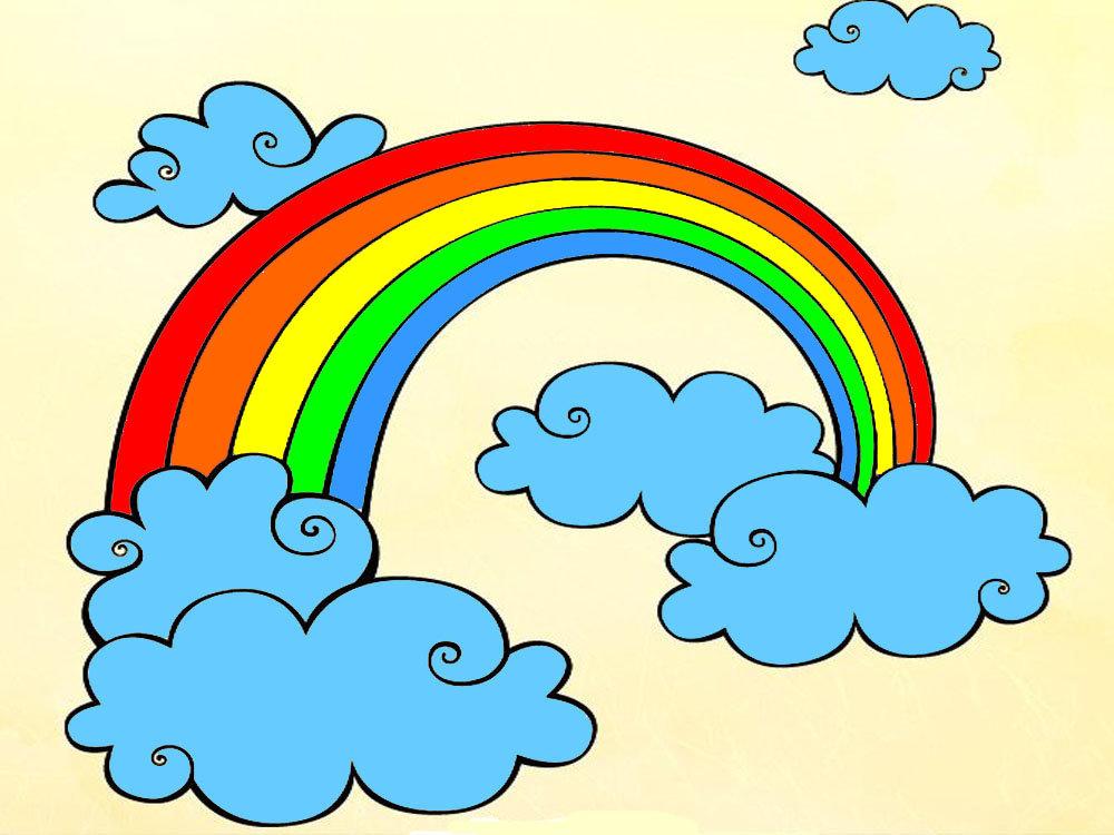 «детская раскраска радуга с облаками: 17 тыс изображений ...