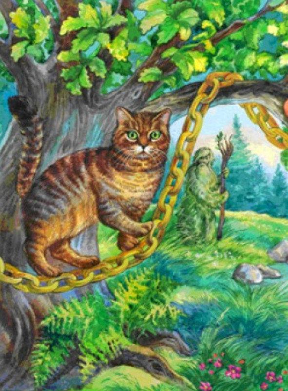 Кот по цепи кругом картинка