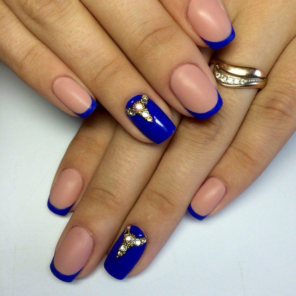 чего был синий французский ногти фото для тебя тематика