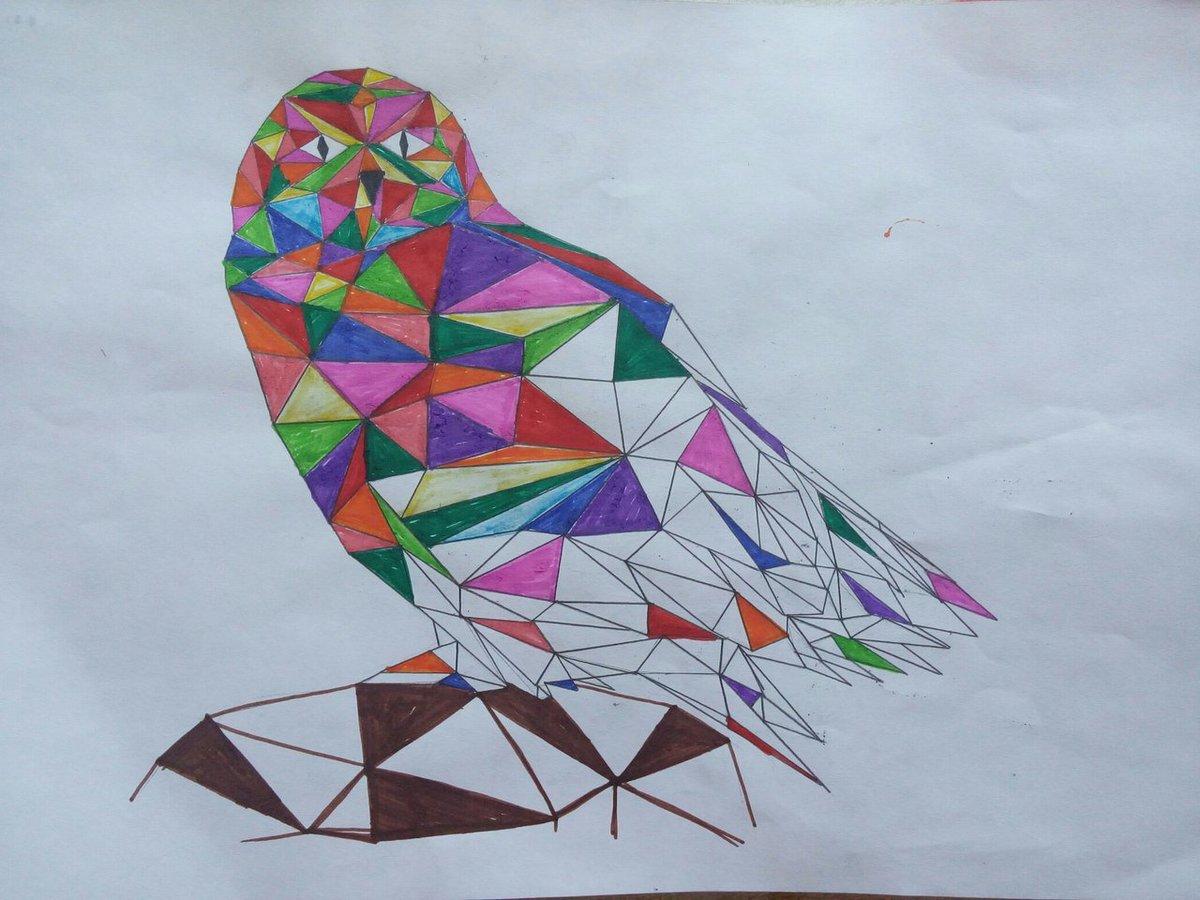 Картинки из треугольников для подростков современные