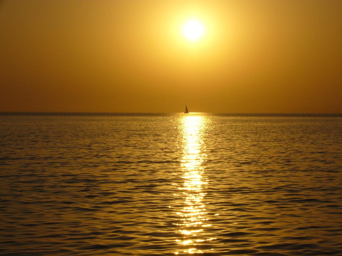 Картинка отражение солнца в море