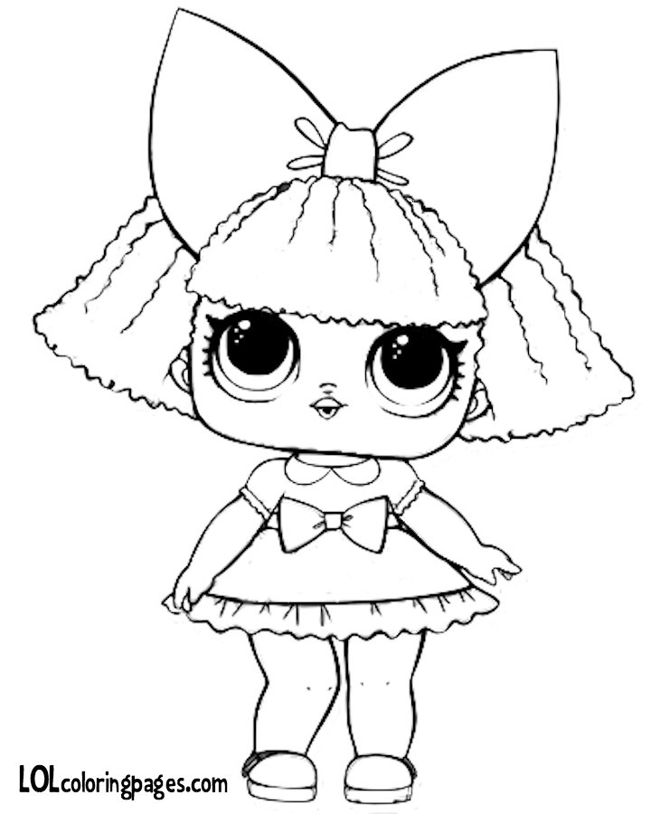 quot Glitter Queen Printable Coloring Page LOL Surprise Doll