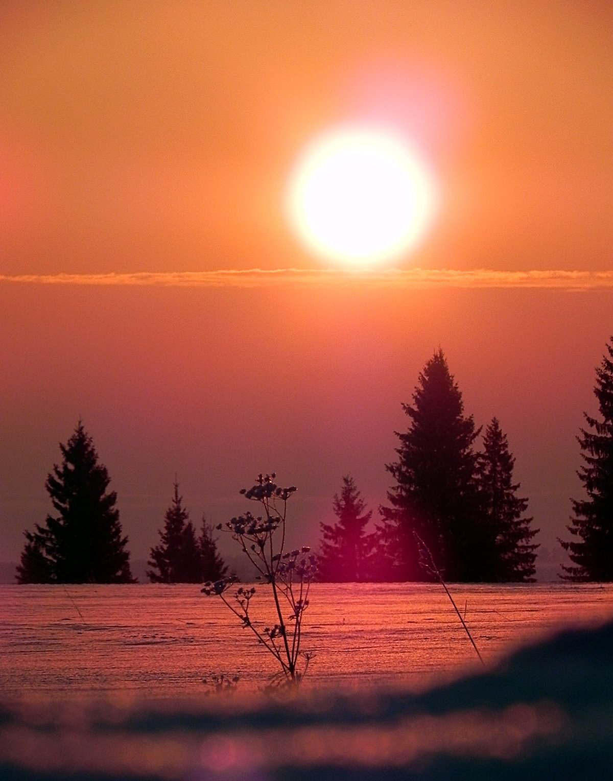 красивые картинки заката и рассвета зимой