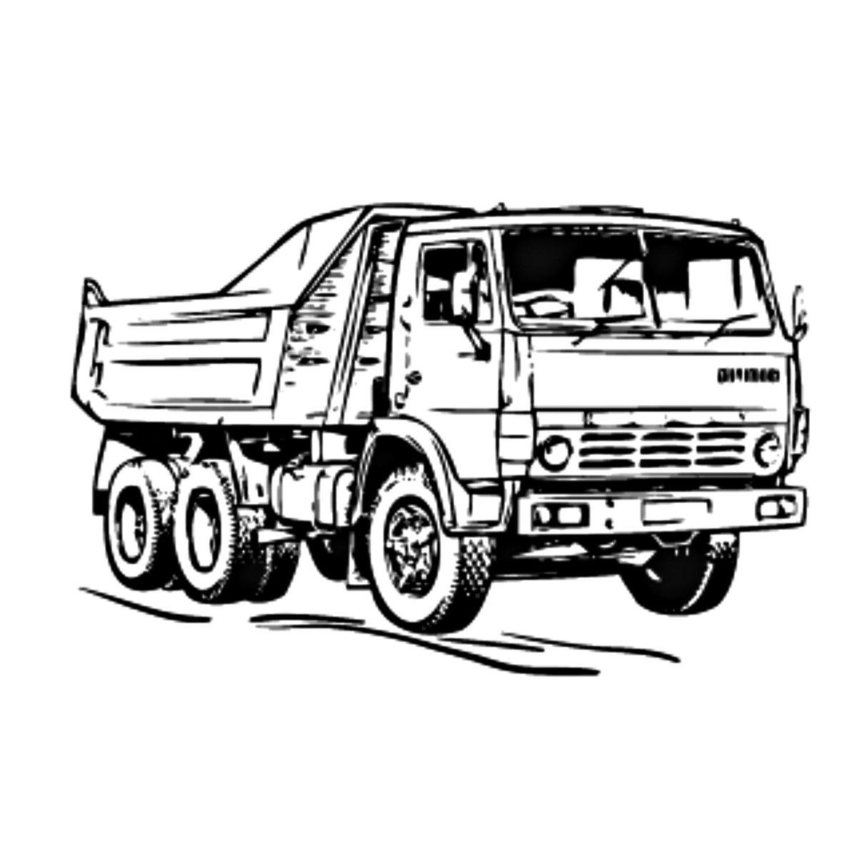 рисунки грузовиков камаз конструктивном