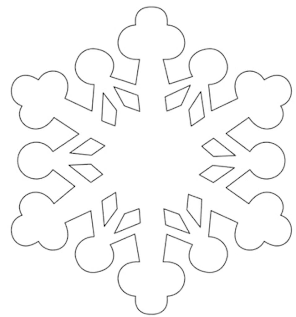 Открытки снежинки шаблоны