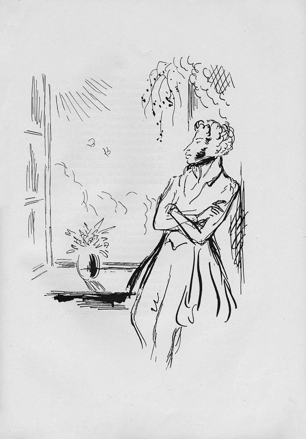 картинки из произведений пушкина карандашом ткань лимфоидная таких
