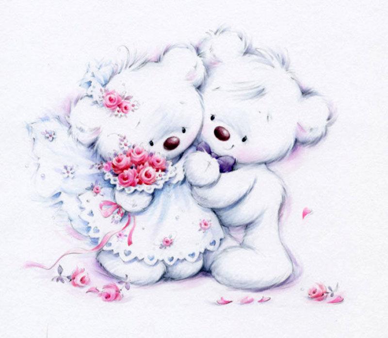 Рисунки для открыток с медвежатами, хорошего