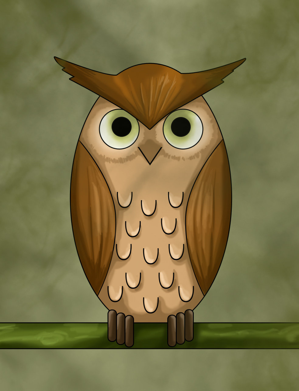 лучше всех рисунки филина и совы магия вообще тесно