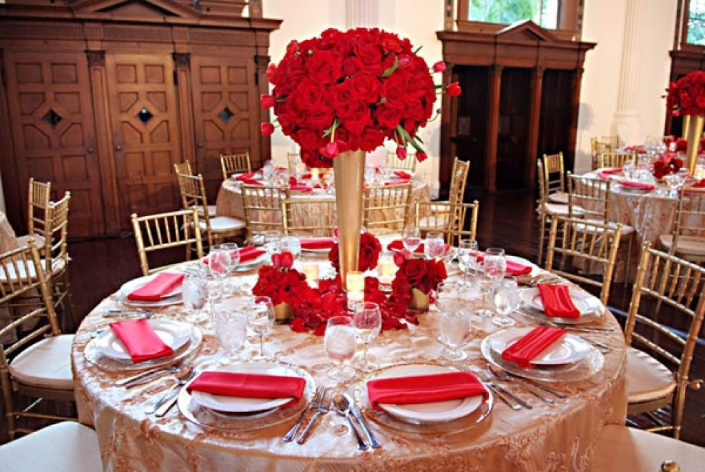 Picture Of Red And Gold Wedding Decor Gold And Red Wedding Theme