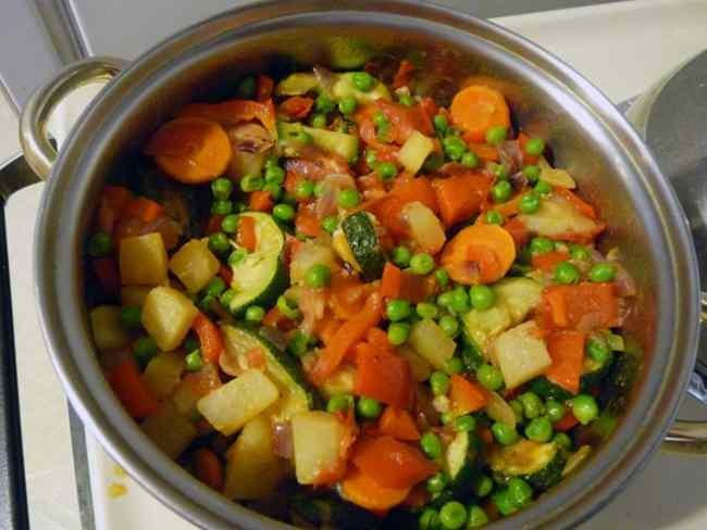 Овощное рагу из кабачков и картофеля рецепт с фото