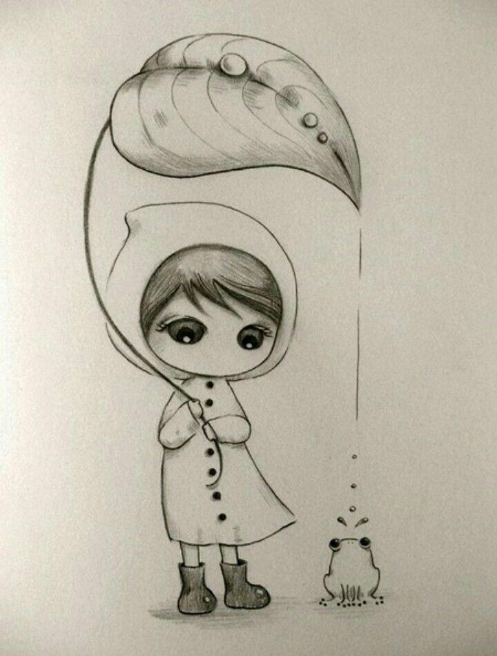 Нарисовать картинку легко и красиво девочек