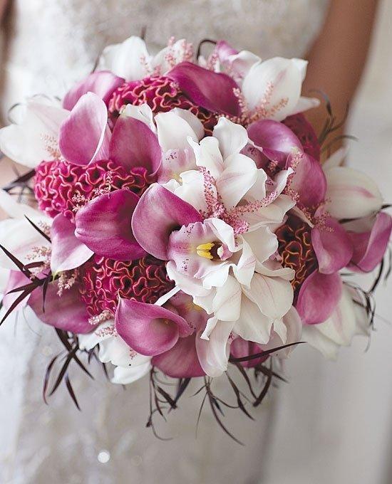 Букетов, свадебные букеты каллы и фаленопсис