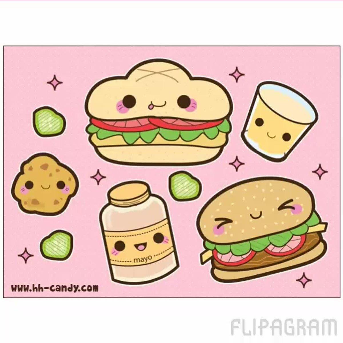 Картинки для срисовки легкие еда кавайные