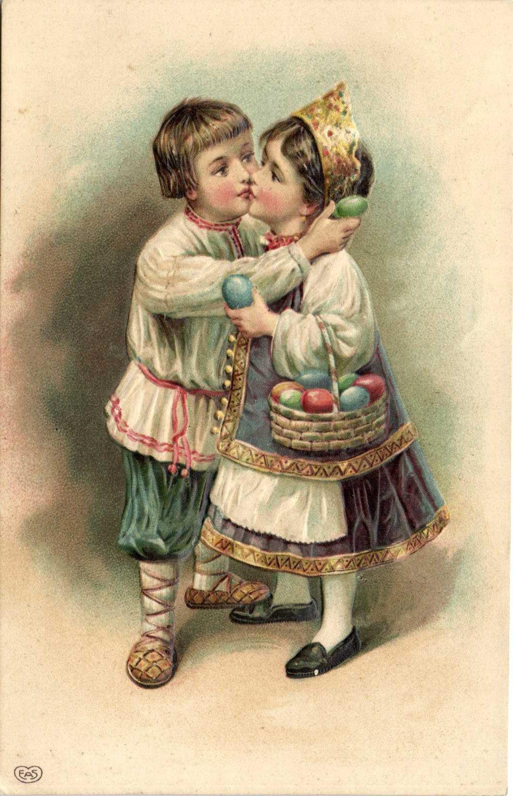 Дети и пасха открытки