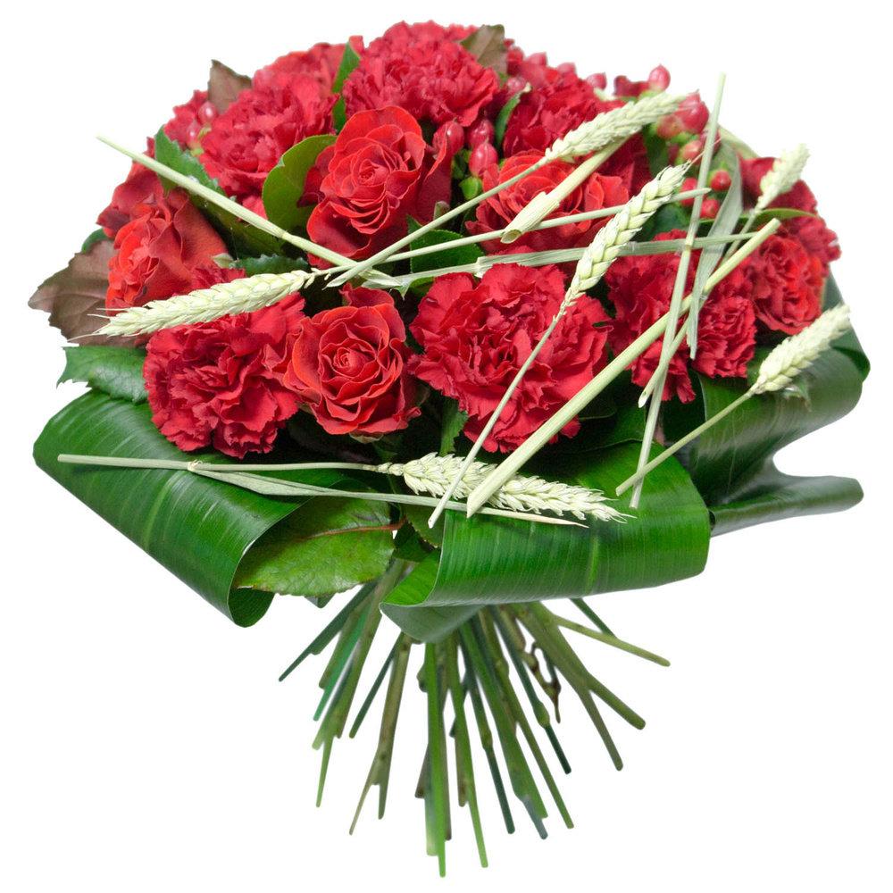 Букета пионов, оформленный букет роз