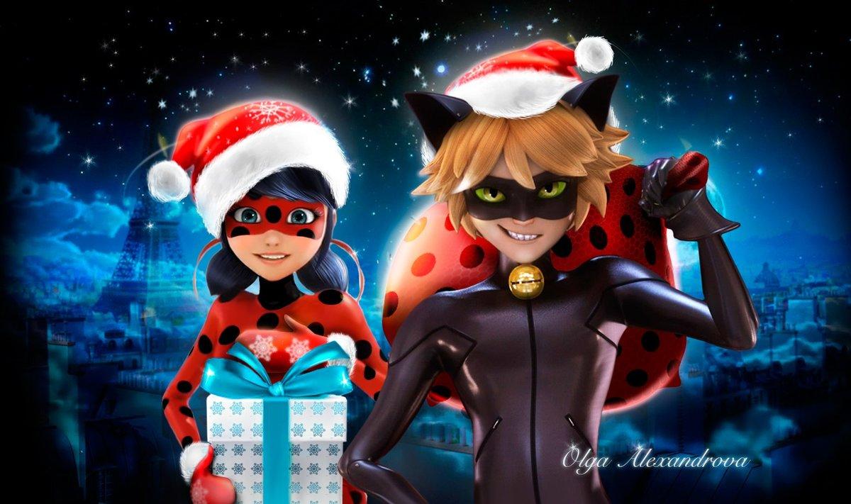 картинки леди баг и супер кот новогодние серии героини