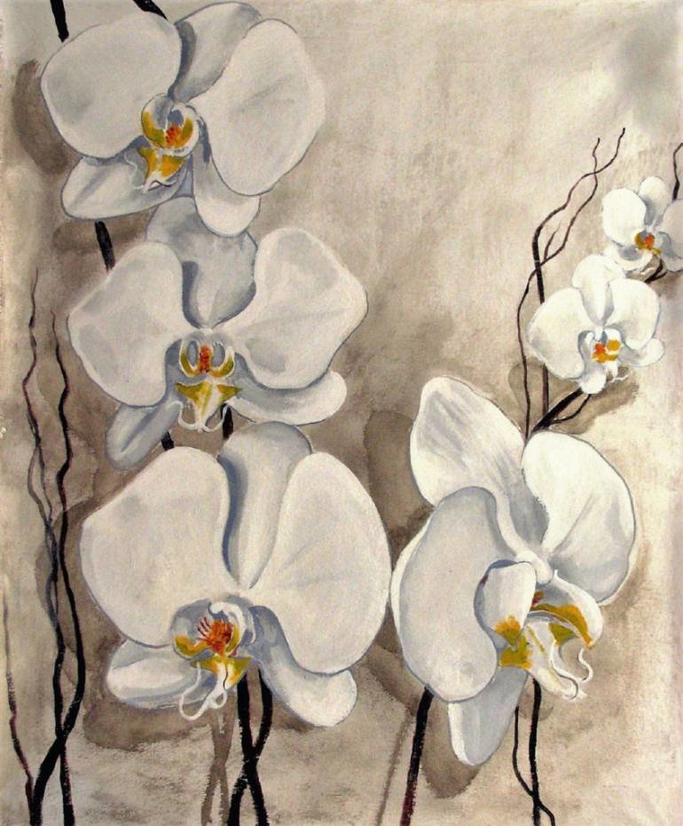 simple orchids paintings - 770×931