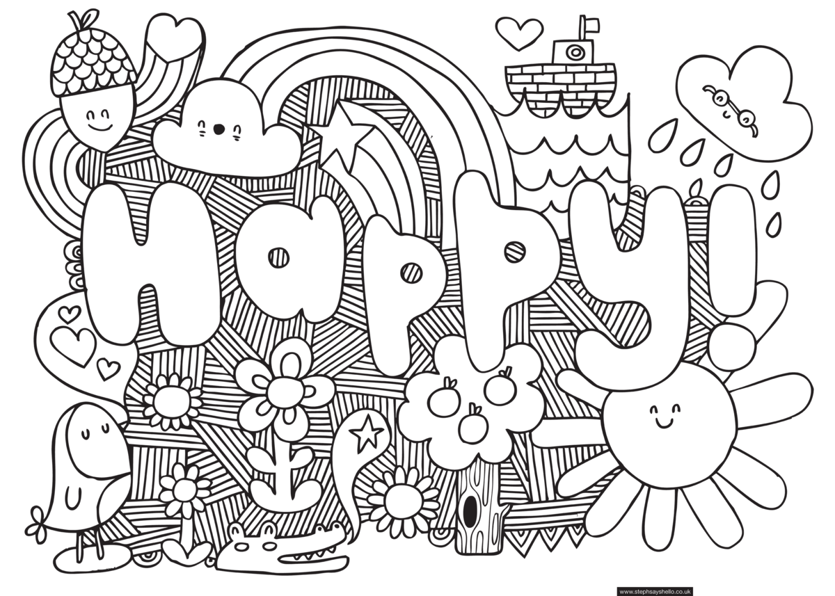 Printable Colouring Pages Amp Pictures Free Kids Quizzes - 1024×732