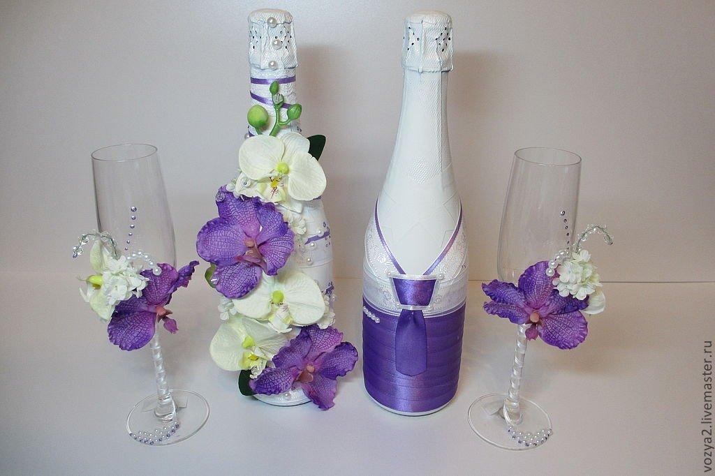 конкурсы украшение свадебных бокалов и бутылок фото любую