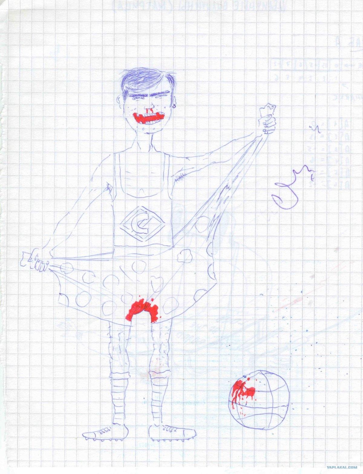 Рисунки по клеточкам в тетради смешные