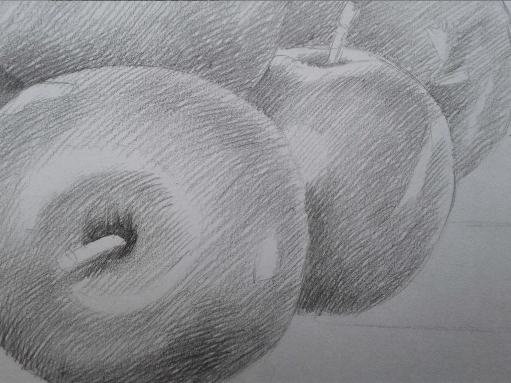 Картинки штрихованные яблоки