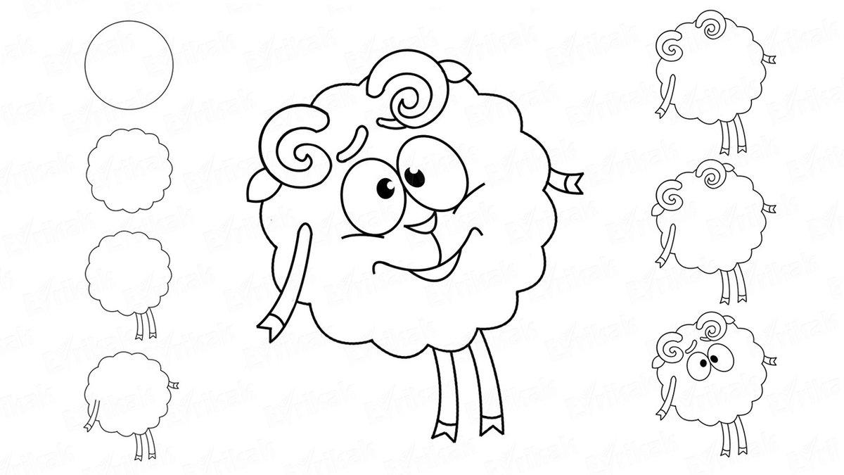 Легкие рисунки для срисовки смешарики