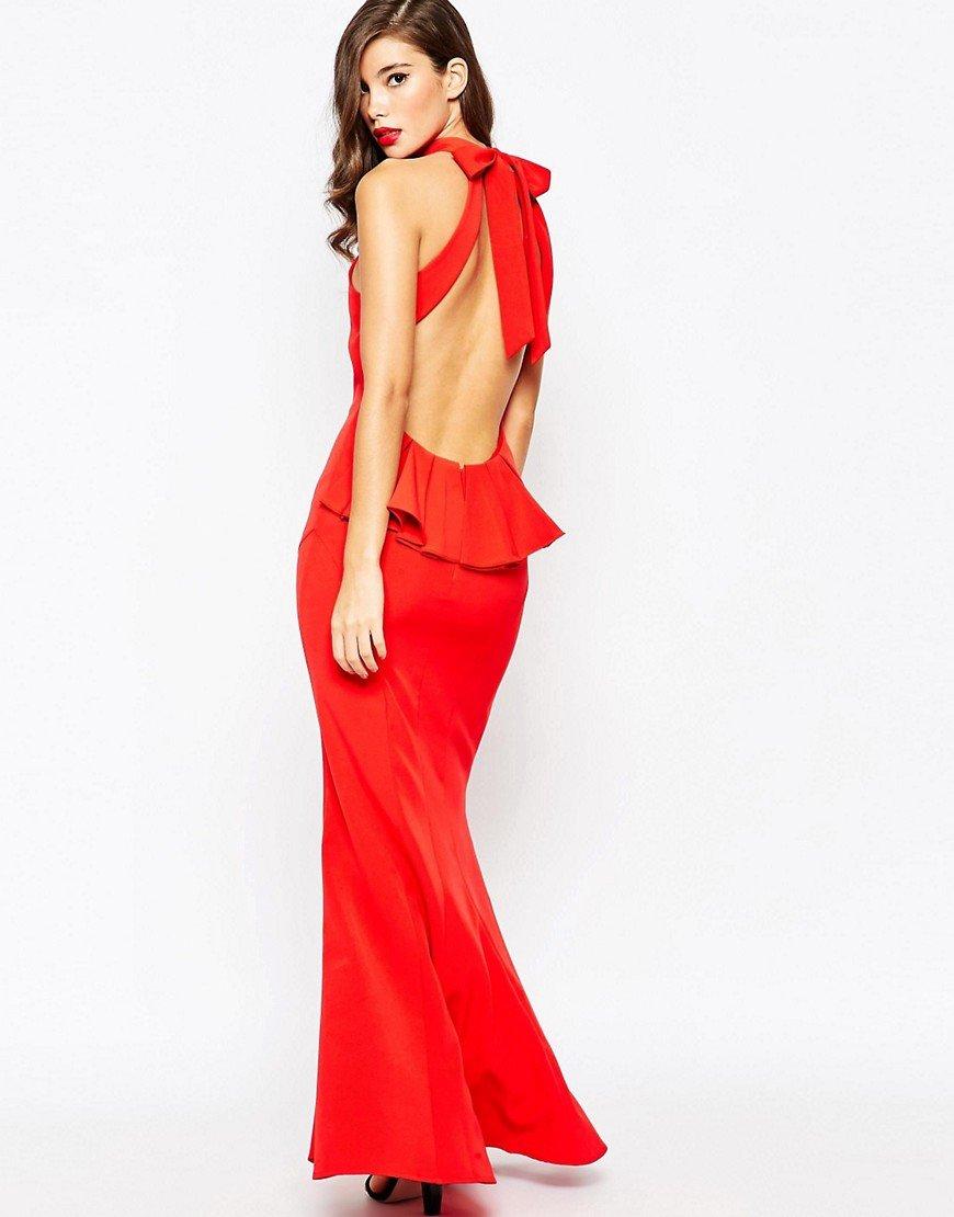каре для длинные вечерние платья с открытой спиной фото украшения